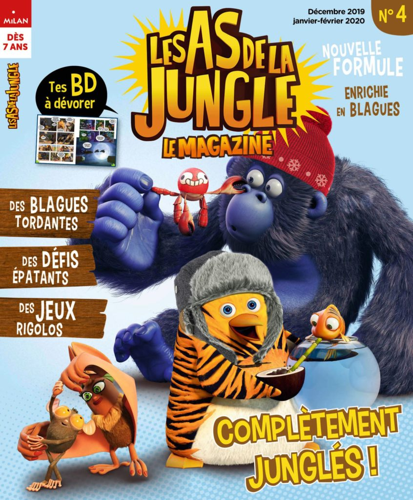 couverture du numéro 4 du magazine Les As de la Jungle