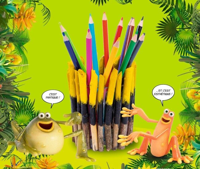 Pot à crayon aux couleurs des As de la Jungle