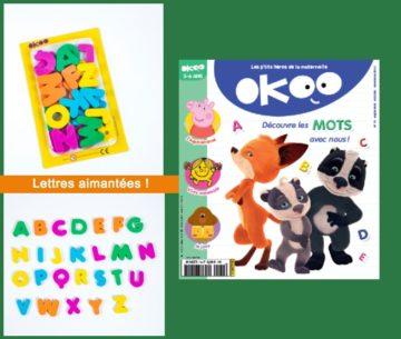 couverture et cadeau du magazine OKOO rentree 2020