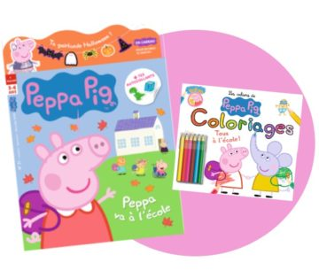 Magazines officiels de Peppa Pig rentrée 2020