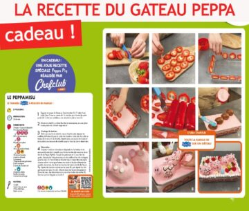 Recette de gateau Peppa Pig par Chef Club